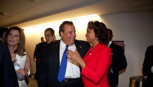 Jennifer and Governor Chris Christie at the 2012 Republican Convention