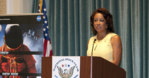 Jennifer speaks on the economic impact of commercial space program at the National Space Club Florida Committee
